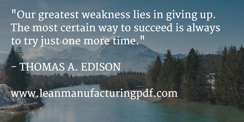 Lean Manufacturing Edison Sentence 3